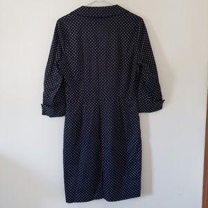 Ann Taylor Dresses - Ann Taylor Polk-a-dot Collared Dress